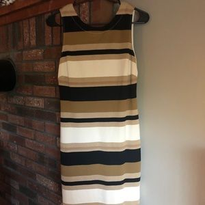 Banana Republic Sleeveless Bodycon Striped Dress